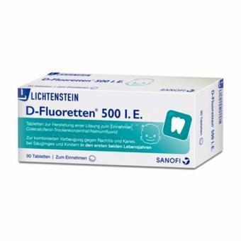 Viên uống bổ sung Vitamin D cho bé D-Fluoretten 500I.E xách tay Đức