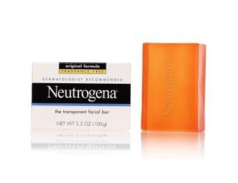 Xà phòng rửa mặt unisex Neutrogena Transparent Facial Bar, Original Formula Fragrance Free 100g (Mỹ)