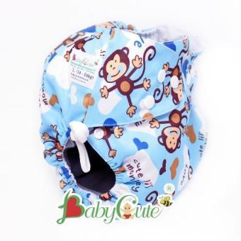 Tã vải đêm BabyCute size L 14 - 24 kg Khỉ xanh