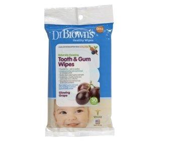 Gói 30 Khăn Lau Kháng Khuẩn Xylitol Răng-Miệng cho bé 0m+ Dr.Brown's baby USA