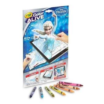 Tập và bút tô màu thần kỳ 4D Crayola Color Alive Frozen Elsa