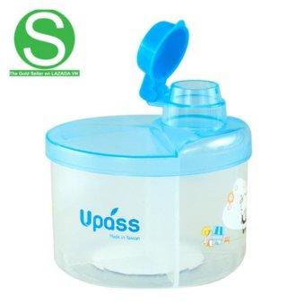 Hộp Chia Sữa Tròn 4 Ngăn Không BPA Upass UP8005CX (Xanh Da Trời)
