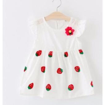 Đầm trái dâu dễ thương cho bé gái