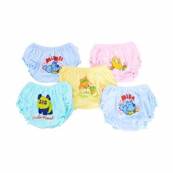 Bộ 5 quần sịp màu in bé gái Nanio QD119