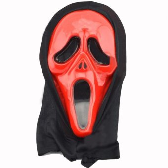 2pcs Awesome Carnival Halloween Masquerade Party Devil Ghost Scream Mask Red - intl