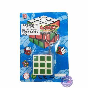 Vỉ đồ chơi Rubik mini 3x3x3 có móc khóa
