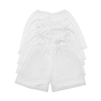 Bộ 5 quần ngắn trắng không in Nanio QD057