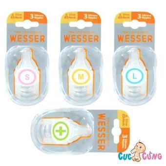 Ty bình sữa Wesser cổ thường size M -3 cái/vỹ
