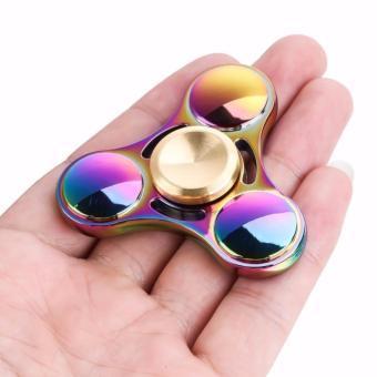 Con Quay đa sắc đổi mầu bằng kim loại Fidget Spinner không ma sát xả stress