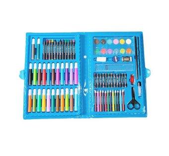 Bộ bút chì màu 86 món (Xanh)