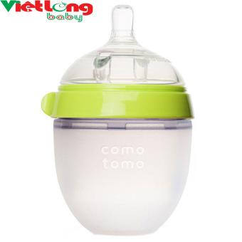 Bình sữa silicone Comotomo 150ml - Xanh CT00012