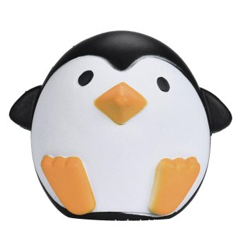 Portable Soft Kawaii Artificial Squishy Penguin Shape Cream Scented Super Slow Rising Simulation Relieves Stress Anxiety Toy for Children Adults Anxiety Attention - intl