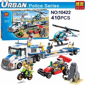 Bộ xếp hình City Police - Xe lưu động cảnh sát chở trực thăng giám sát