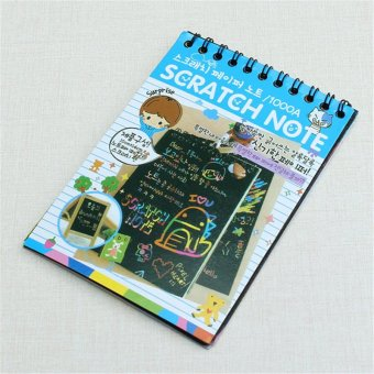 Children Kids DIY Scratch Art Graffiti Painting Book Toys with Drawing Stick - intl