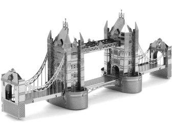 Bộ xếp hình 3D bằng kim loại CẦU THÁP LONDON và TÀU GOLDEN HILL