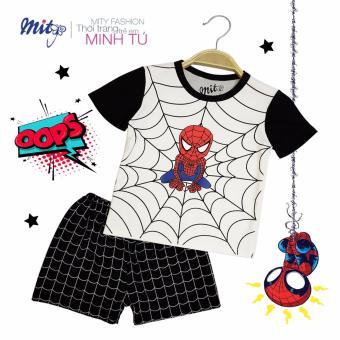 bộ đồ in hình người nhện đen