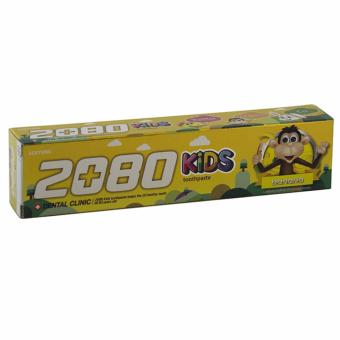 Kem Đánh Răng Trẻ Em Ngừa Sâu Răng Và Các Lỗ Hổng Phá Hủy Men Răng 2080 Kids Hương Chuối Hàn Quốc 80g - Hàng Chính Hãng