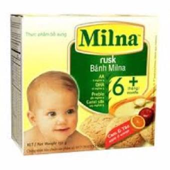 Bánh ăn dặm Milna hương cam & táo 150g