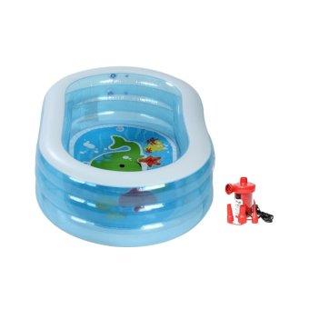 Bộ Bể bơi Oval intex 57482 và Bơm điện 2 chiều bơm bể bơi WB-1184