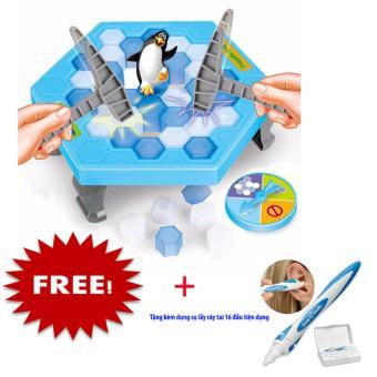 Bộ trò chơi đập chim cánh cụt tặng dụng cụ lấy ráy tai 6 đầu