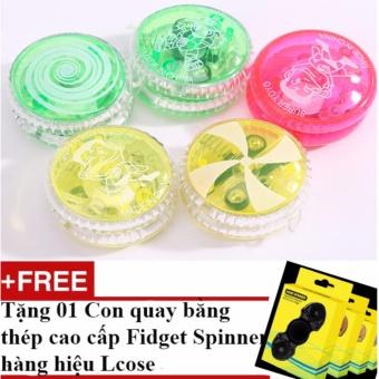 Bộ 02 đồ chơi yoyo có đèn loại phổ biến và ưa chuộng nhất trên thị trường + Tặng 01 Con quay bằng thép cao cấp Fidget Spinner hàng hiệu Lcose