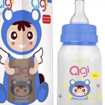 Bình sữa AGI Premium cổ thường 120ml(Xanh Navy)