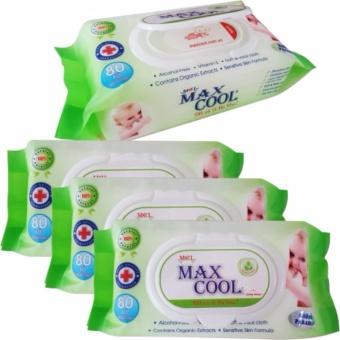 Khăn ướt 30 gói 80 tờ không mùi Max Cool M014