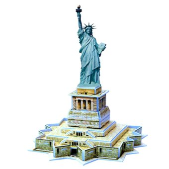 Educational 3D Model Puzzle Jigsaw Mini Statue of Liberty DIY Toy 22pcs