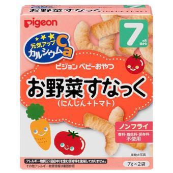 Bánh Ăn Dặm Pigeon bổ sung Canxi vị carot cà chua cho bé 7M+