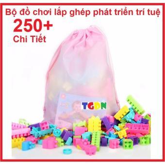 Bộ đồ chơi lắp ghép 250 mảnh cao cấp phát triển trí tuệ cho bé