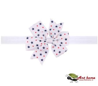 Phụ kiện tóc băng đô handmade cho bé AHBĐ6 mầu trắng họa tiết sao (số 6)
