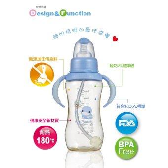 Bình Sữa Có Tay Cầm nhựa PES - ku5836 - Blue