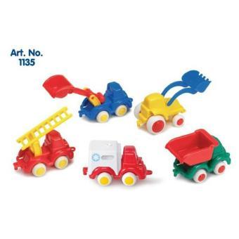 Bộ xe công trường VikingToys - Set 5 xe bằng nhựa an toàn cho bé