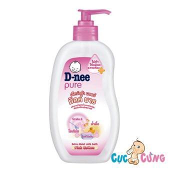 Sữa tắm chứa sữa trẻ em D-nee 380ml (Hồng)