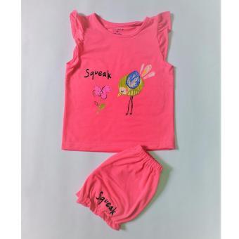 Bộ quần áo trẻ em cực xinh (màu hồng)