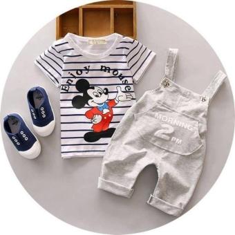 Set bộ áo yếm gấu hình Mickey cho bé