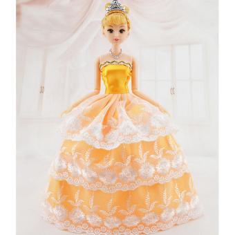 Búp bê 12 Tiểu Thư Cam + Tặng Kèm Phụ kiện 4 món và 03 Váy Ngắn
