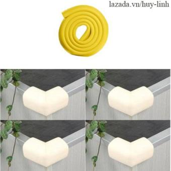 Cuộn bọc cạnh bàn (Vàng)+ 4 miếng bọc góc bàn (Trắng)