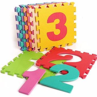 Thảm trẻ em 10 miếng hình chữ số 0 - 9