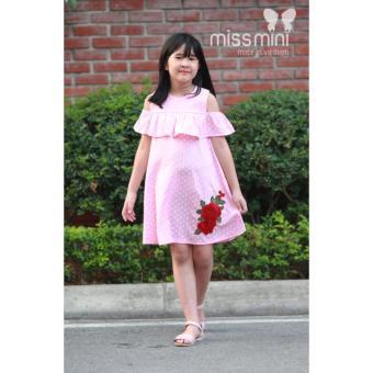 Váy bé gái hoa chấm bi Missi Mini 6 đến10 tuổi