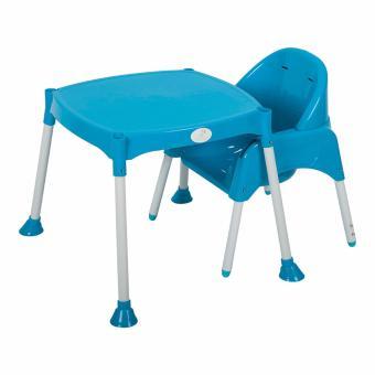 Bộ ghế ăn và bàn ăn cao cấp Babybum (Xanh dương)