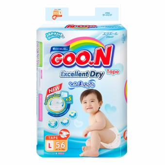 Bộ 4 tã Goon Slim JB L56