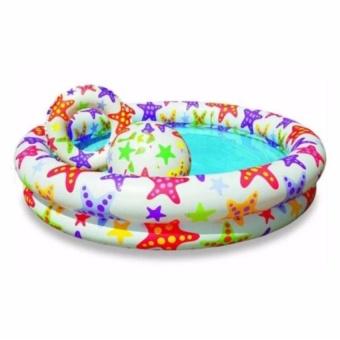 Bộ bể bơi 3 tầng kèm phao và bóng cho bé tiện dụng