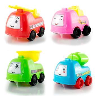 Mua Bộ 4 Ô tô nhí - Xe cứu hỏa, xe bồn, xe ben, xe cứu thương giá tốt nhất