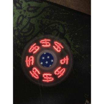Con quay giảm stress Hand Spinner đèn led có thể thay pin (đen)
