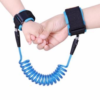 Dây đeo tay chống lạc cho bé ( xanh )