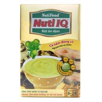 Bột ăn dặm cá nấm đông cô Nuti IQ NutiFood 200g