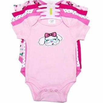 Bộ 5 áo liền quần bé gái từ 3 tháng đến 12 tháng tuổi Baby Gear (Màu sắc ngẫu nhiên)