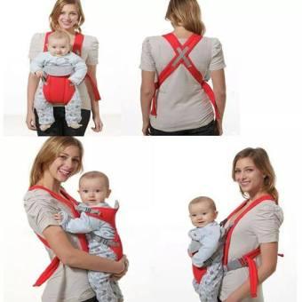 Địu em bé 4 tư thế (Đỏ)