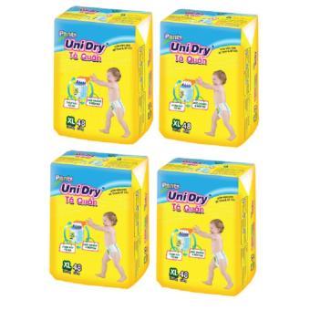 Bộ 4 gói tã quần Unidry size XL48 bé trên 13kg